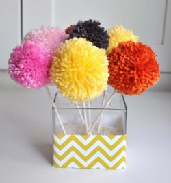 Cheerful Yarn Pom Pom Bouquet