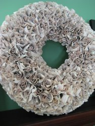 Recycled Book Rosette Wreath