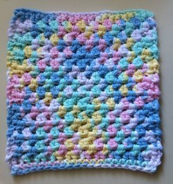 Cotton Candy Dishcloth