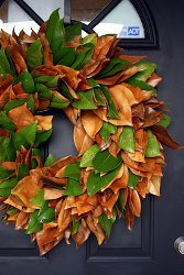 Real Magnolia Leaf Wreath