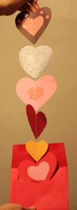 Never-Ending Paper Hearts Valentine