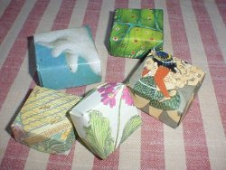 Folded Christmas Card Box