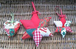 Festive Patchwork Stars and Hearts
