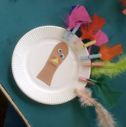 Crazy Clothespin Turkey Feathers