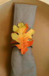 Lovely Leafy Recycled Napkin Rings