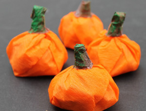Tissue Paper Candy Pumpkins