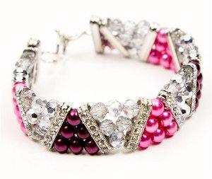 101 free beading patterns favecrafts shades of pink bracelet fandeluxe Images