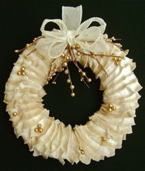 Ivory Ruffles Wreath