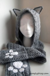 Cozy Cat Hooded Scarf
