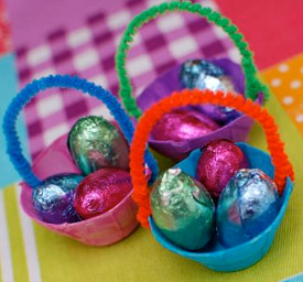 45 easy easter crafts for kids allfreekidscrafts how to make an easter basket negle Gallery