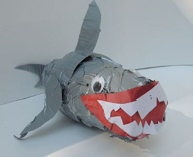 Delightful Duct Tape Shark