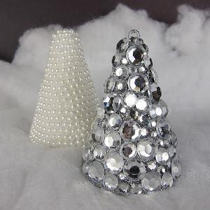 jeweled christmas tree art - Jeweled Christmas Trees