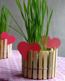 Clothespin Planter Gift for Mom