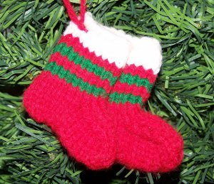 Mini Knit Stocking Ornaments