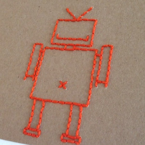 Bolt Robot Embroidery Card