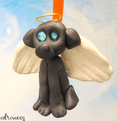 Puppy Angel Christmas Ornament