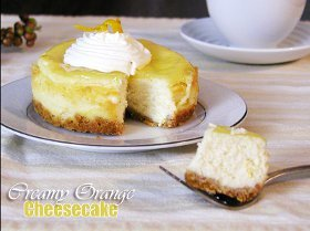Creamy Orange Cheesecake