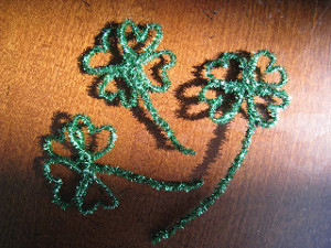 Pipe Cleaner Shamrocks
