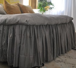 Ruffled Bed From Bed Sheets