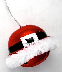 Santa's Belly Bell Ornament