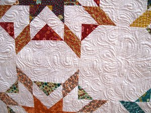 Echoed Paisleys Quilting Pattern