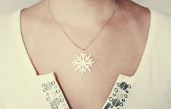 DIY Snowflake Necklace