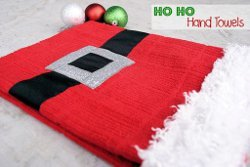 Santa Themed Hand Towels