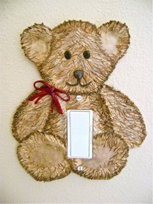 Teddy Bear Light Switch Cover