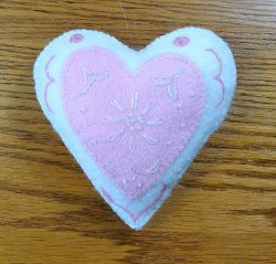 Embroidery Heart Pincushion