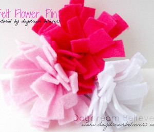 Flowered Felt Pin