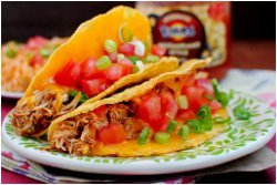 Slow Cooker Chicken Tacos with Mexican Rice