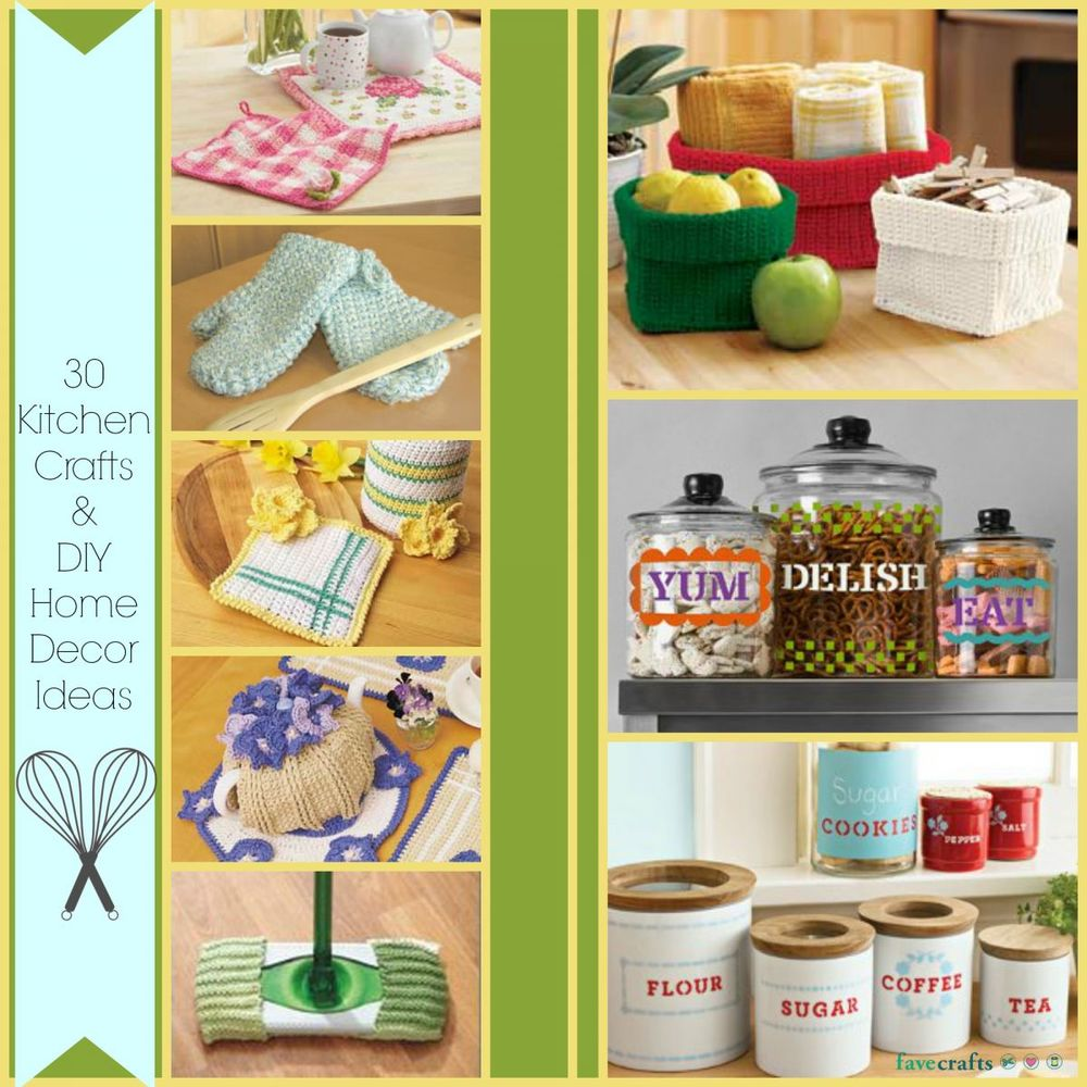 30 Kitchen Crafts and DIY Home Decor Ideas | FaveCrafts.com