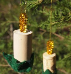 Wine Cork Candle Ornaments