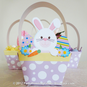 Printable Paper Easter Basket