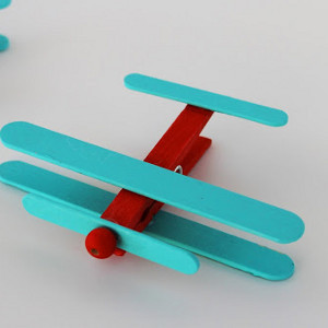 Clothespin airplanes for Arts and crafts toys for 4 year olds