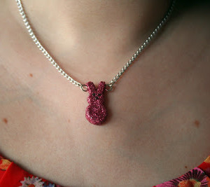 Glittery Bunny Necklace