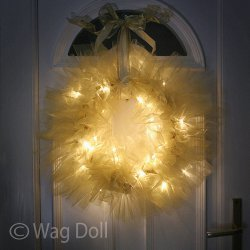 Magical Lights Tulle Wreath