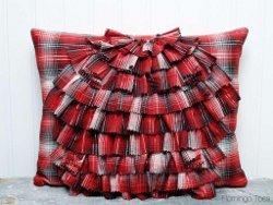 West Elm Inspired Ruffle Pillow