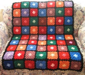 Stained Glass Rainbow Afghan