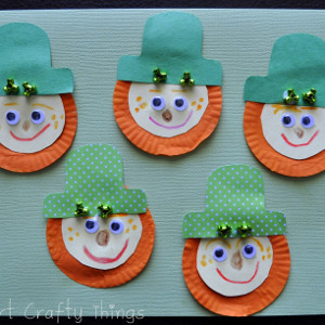 Cupcake Liner Leprechaun Beards