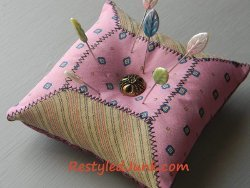 Recycled Neck Tie Pincushion