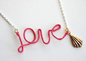 Love Your Thread Wrapped Necklace