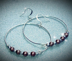 Beautiful Beaded Hoop Earrings
