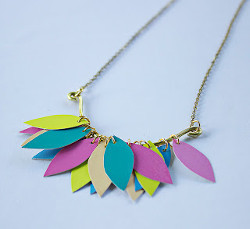 Paint Chip Petal Necklace