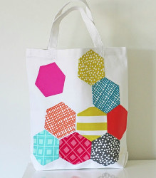 English Paper Applique Tote