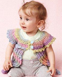 Rainbows and Lolli Pops Baby Tunic AllFreeCrochet.com