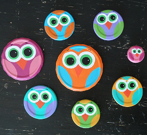 Jar Lid Owls