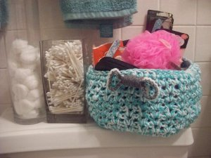 Crocheted Stash Buster Basket