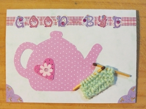 The Joy of Tea and Knitting Card