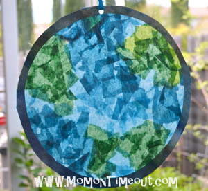 Stained Glass Planet Earth Day Globe